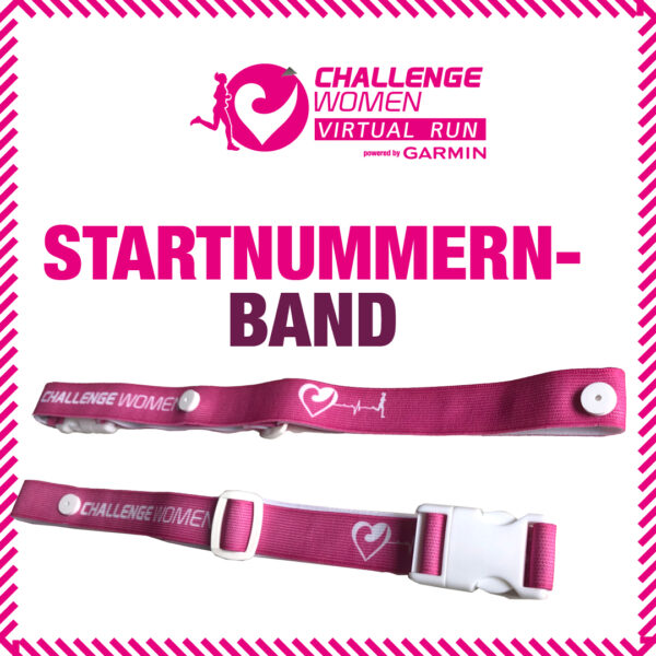 das Challenge Women Startnummernband für Frauen